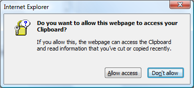 Accessing Clipboard w/o Prompting in IE7