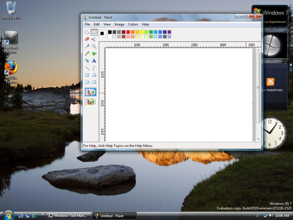 Paint in Windows 7